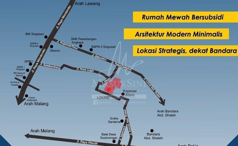 denah lokasi Bumi Bandara Malang