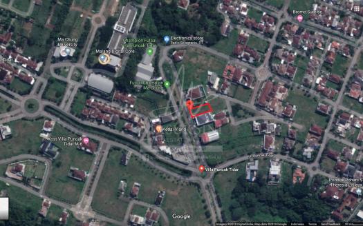 Tanah Dijual Villa Puncak Tidar Malang depan KL