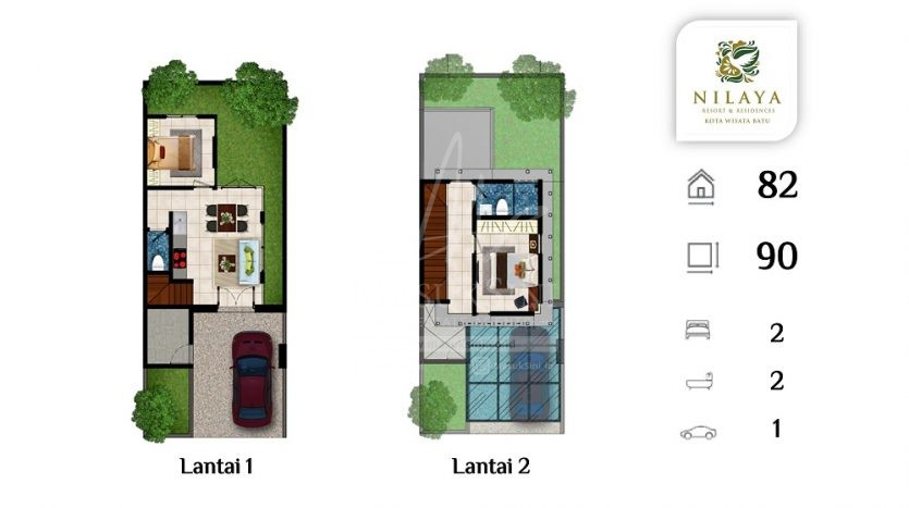 Nilaya Tipe Canary Resort & Residence Batu
