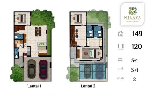 Nilaya Tipe Maleo Resort & Residence Batu