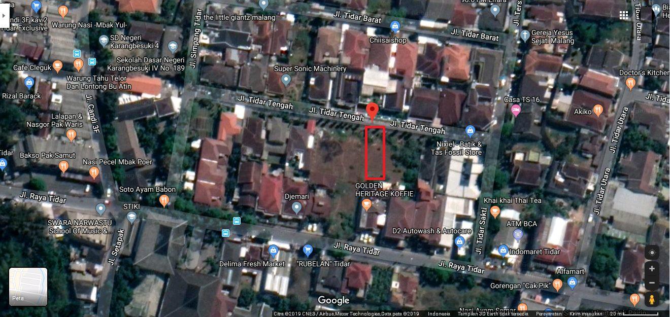 Dijual Tanah Kavling Tidar Tengah Malang