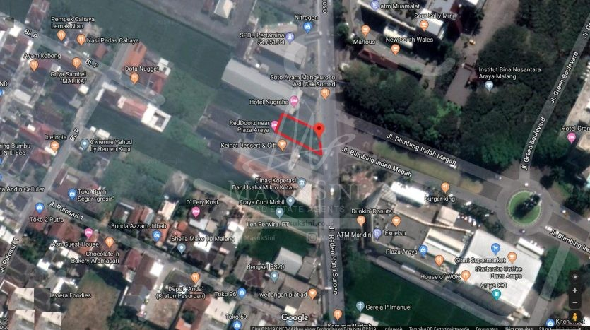 Dijual Tanah Strategis di Jl Panji Suroso Malang