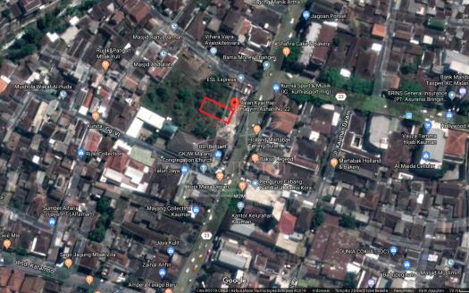 Tanah Dijual Jl Hasyim Ashari Klojen Malang