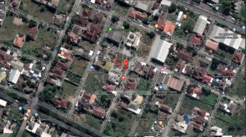 Tanah Dijual Jl Teluk Etna Arjosari Malang