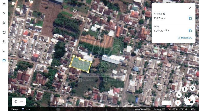 Tanah Luas Dijual Murah di Arjowinangun Kedungkandang Malang
