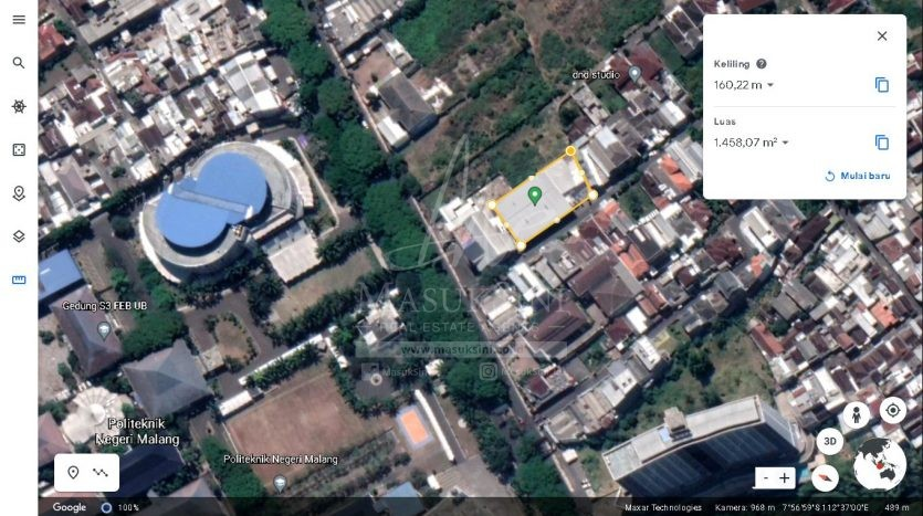 Tanah Strategis di Jl Bunga Andong Dijual di Soekarno Hatta Malang